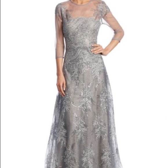 c47f95086f8c Rickie Freeman for Teri Jon Dresses | Beaded Lace Gown By | Poshmark